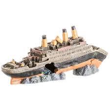 fish tank decorations titanic titanic boat ship wreck shipwreck