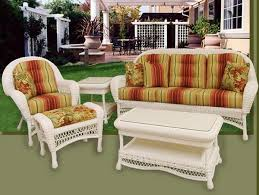 Best White Patio Outdoor Wicker Furniture Images On Pinterest - Outdoor white wicker furniture