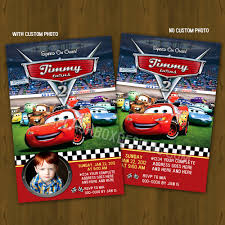 Invitation Card 7th Birthday Boy Disney Cars Birthday Invitations Plumegiant Com