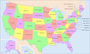United States Map With Labeled States by Can You Guess The Largest Companies By Revenue In Each State