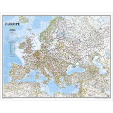 Europe Continent Map by Continent Maps Shop Mural World Maps National Geographic Store