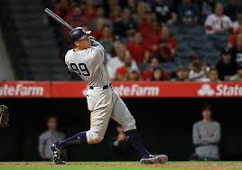 Aaron Judge Made His Mlb Debut In Center Field - aaron judge does it again blasts go ahead home run to give yankees