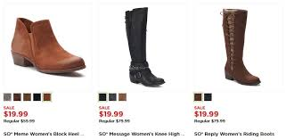 womens boots kohls kohl s black friday s boots as low as 11 99