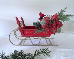 wooden sleigh etsy