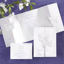 invitations for wedding carlson craft butterfly wedding invitations wishes set