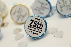 Favors For 75th Birthday by 125 Pcs Happy Aged 75th Birthday Favors Custom Personalize