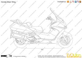 honda silverwing the blueprints com vector drawing honda silver wing