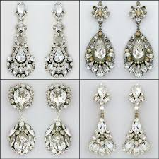 bridal chandelier earrings bridal earrings the best earrings for your shape