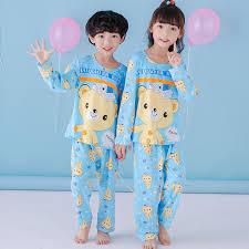 autumn 2017 children s pajamas sets boys sleeved