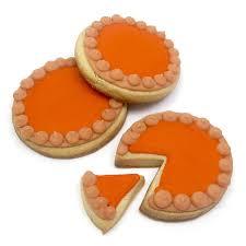 thanksgiving cookie decorating ideas pumpkin pie cookies