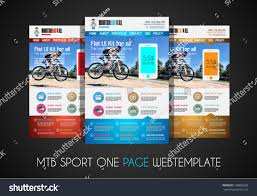 one page sport website flat ui stock vector 198885626 shutterstock