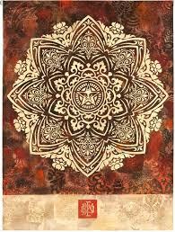 mandala ornament 1 hpm by shepard fairey just beautiful