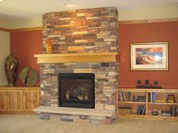 gas stone fireplace home design