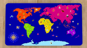 Kids World Map by Cartoons For Babies Geography World Map For Kids Learn 6