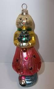 phebe phillips blown glass cat christmas tree ornament rare ebay