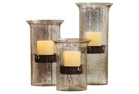 kalalou original glass candle cylinder with rustic insert u2013 modish