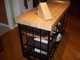 iron kitchen island riveting wrought iron kitchen island with oak butcher block