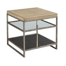 Hammary Sofa Table by Centre Point Mixed Media Square End Table