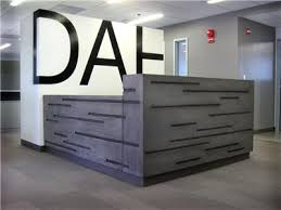 Concrete Reception Desk Concrete Welcome Desk Drama Scale Company Letterhead Commercial