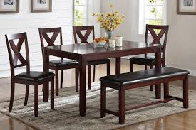 Dining Room Chairs Cherry F2298 Cat 18 P96 6pcs Dining Table Set Cherry