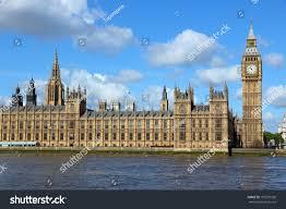 London Clock Tower London United Kingdom Palace Westminster Houses Stock Photo