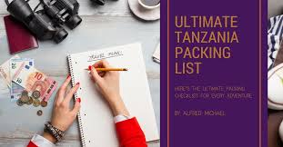 Travel List images The ultimate tanzania packing list viva africa tours png