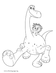 coloring pages spot the dinosaur arlo and spot coloring page