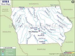 map of iowa towns iowa rivers map rivers in iowa