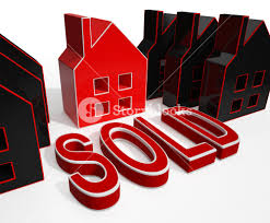 sold house displays sale of real estate royalty free stock image