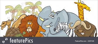 safari cartoon cartoon african safari wild animals design illustration