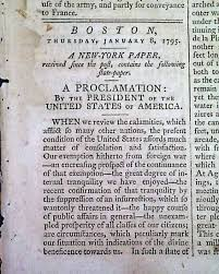 thanksgiving proclamation 1795 discover washington