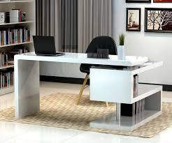 Contemporary Computer Desk Furniture Computer Desk 17914 Chic Office Decor Crafted In A White