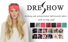 hair headbands 4 pack headbands vintage elastic printed wrap stretchy