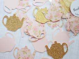 tea party decoration glitter gold u0026 blush pink floral teapot