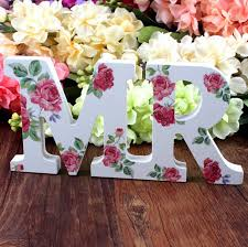 mr and mrs table decoration 1 set mr mrs rose printed wooden letters sign table decoration