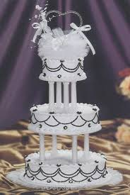 simply black white wedding cake kit ak 160 wedding cake