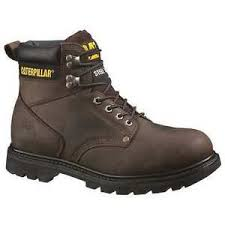 s boots size 9 1 2 size 9 1 2 work boots s brown steel toe m caterpillar ebay