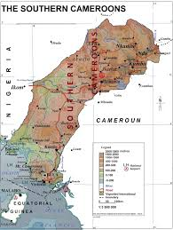 Map Of Cameroon Vibanflagbookscanada Execution Of British Cameroons Ambazonian