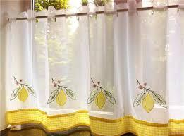 Blue Kitchen Curtains Yellow Kitchen Curtains Nhl17trader Com