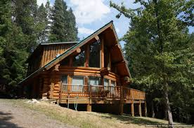 dream log cabin on creek side creek front home