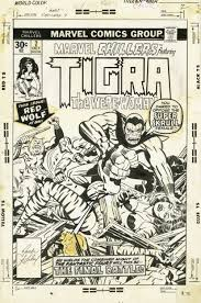 jack kirby quote marvel chillers 7 cover featuring tigra the were woman by jack