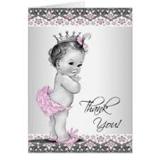 thank you cards for baby shower baby shower thank you cards zazzle