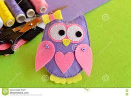 cute felt owl kids crafts scissors thread felt sheets needle