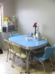 1950s chrome dining set in blue and cream nostalgia 1950 u0027s and