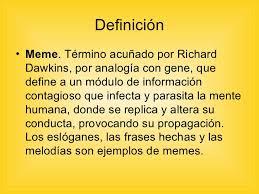 Meme Definicion - meme