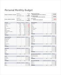 Monthly Budget Template Excel Personal Monthly Budget Template Budget Template Uk Own