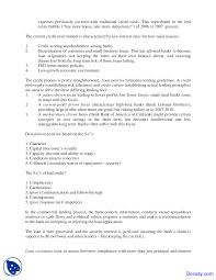 Loan Spreadsheet Credit Policy And Loan Characteristics Commercial Banking And