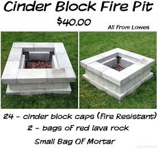 Outdoor Cinder Block Fireplace Plans - diy fire pit weber grill diy brick fire pit grill grill fire pit