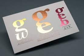 Business Cards Foil Bracha Printing Inline Foil Business Cards