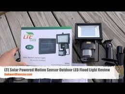 solar powered motion sensor outdoor light reviews lte solar powered motion sensor outdoor led flood light review youtube